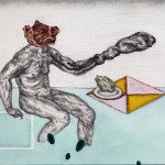Marthe Zink- Meat Man Eats A Rock, 2014